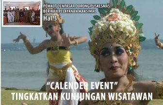 Calender Event Tingkatkan Kunjungan Wisatawan